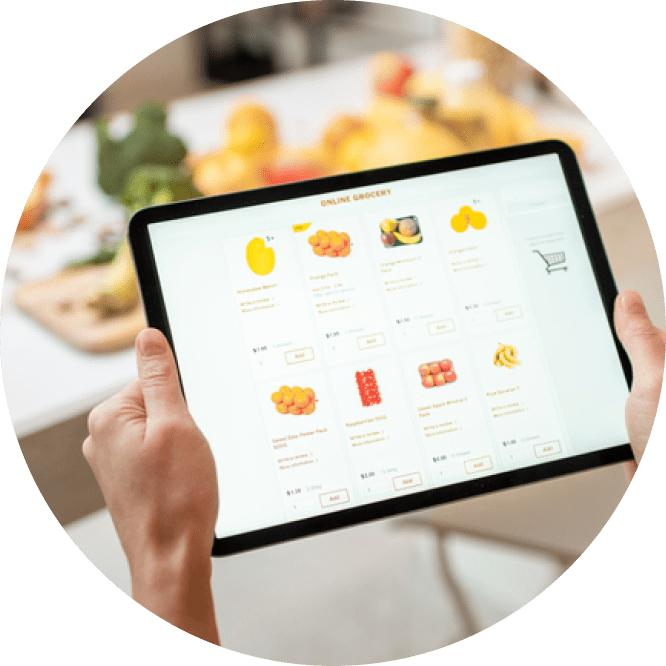 Online shopping with tablet image