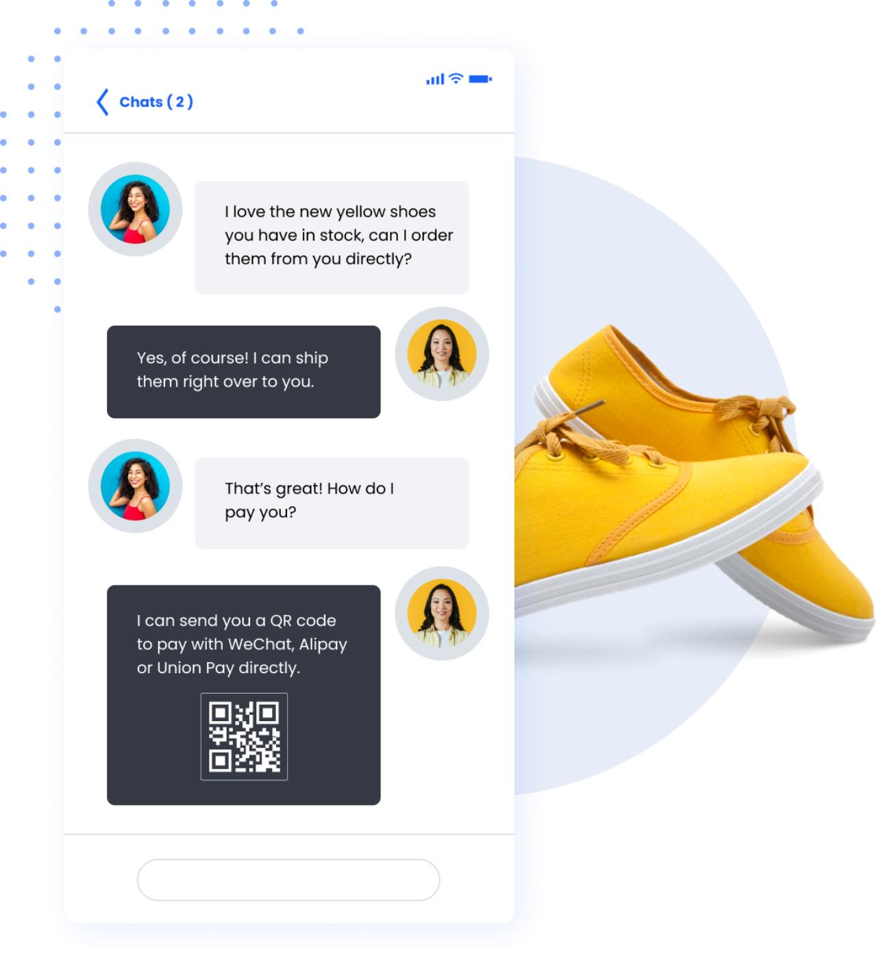 Payment with chat image