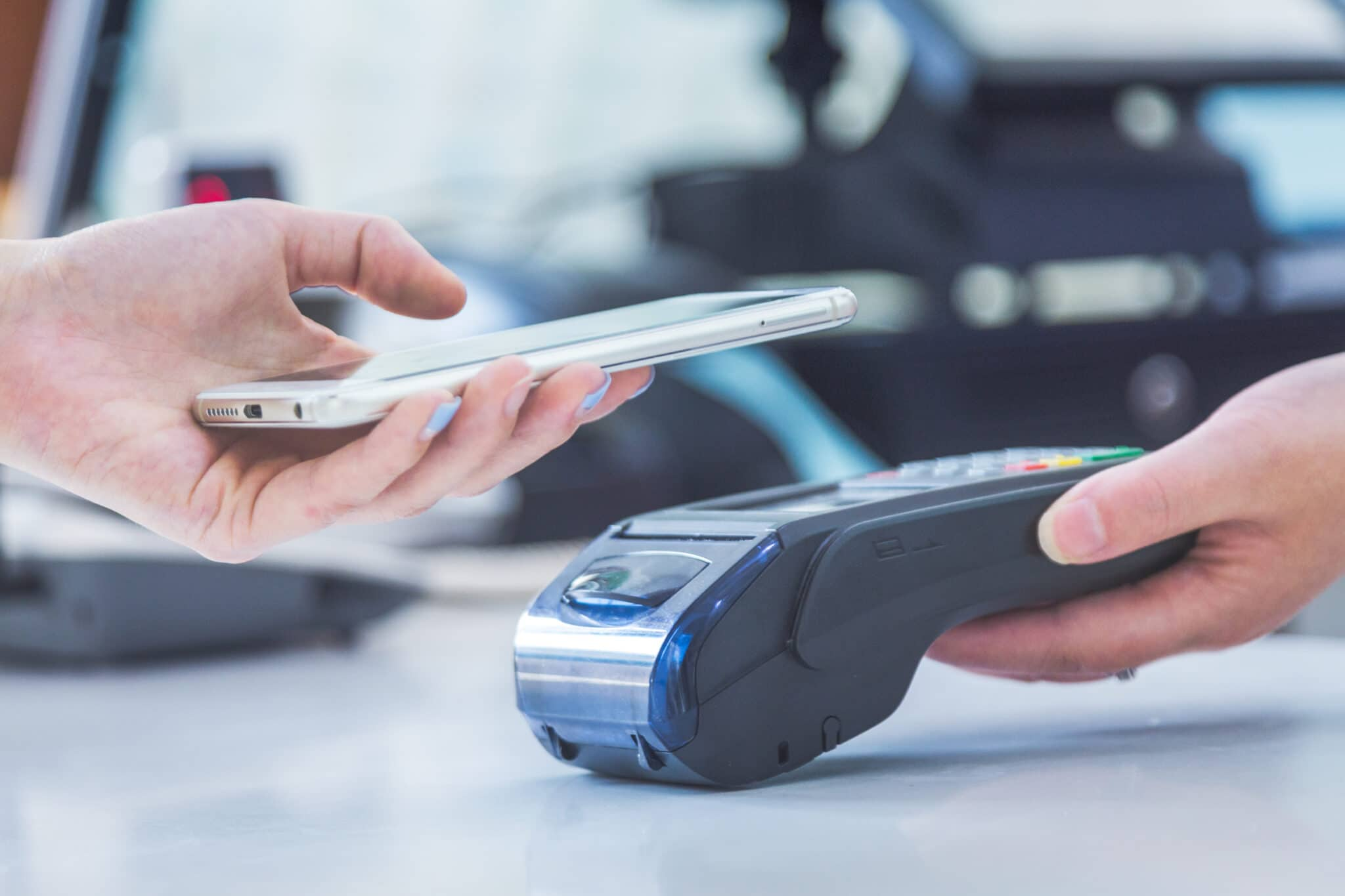 Payment with mobile phone image