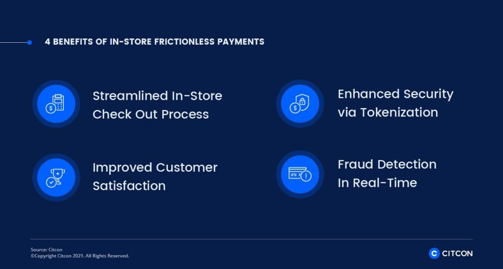 4 benefits of in-store frictionless payments - infographic
