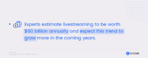 Livestreaming is a marketing tactic one might try when entering the China eCommerce market.