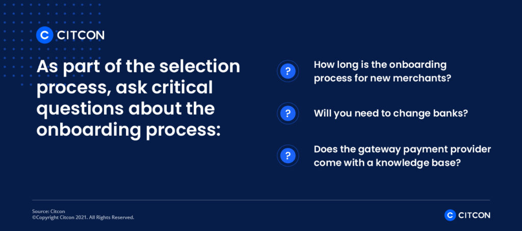 Citcon: payment gateway providers - questions about onboarding process