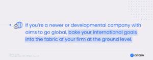 Citcon: saas international expansion - bake your international goals