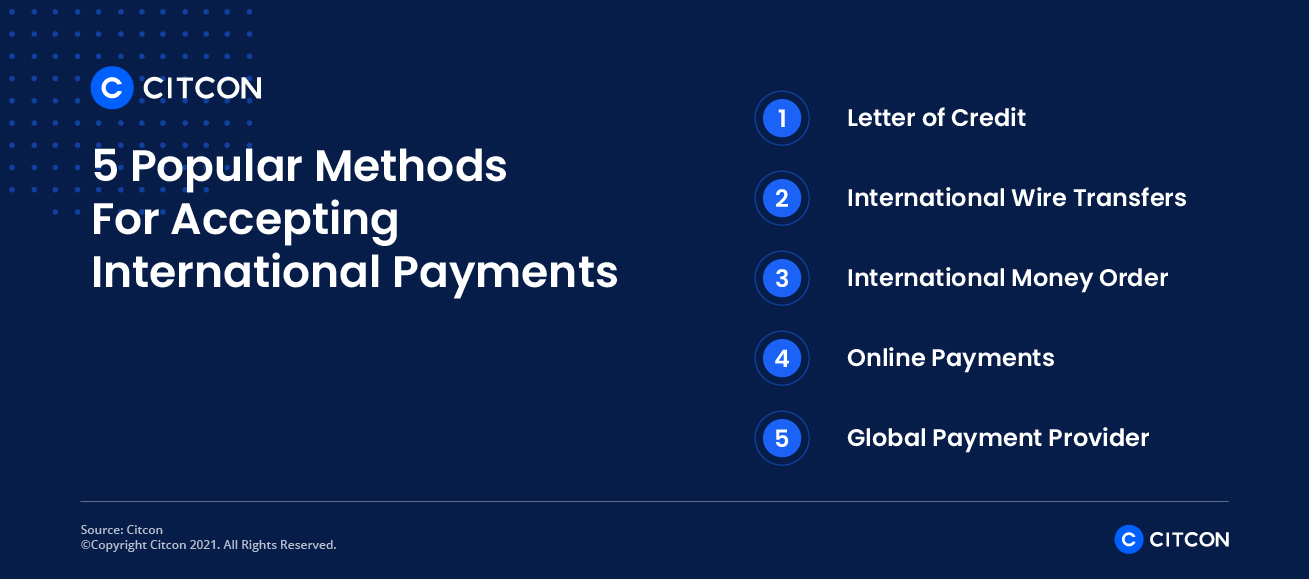 5 popular methods for accepting international payments