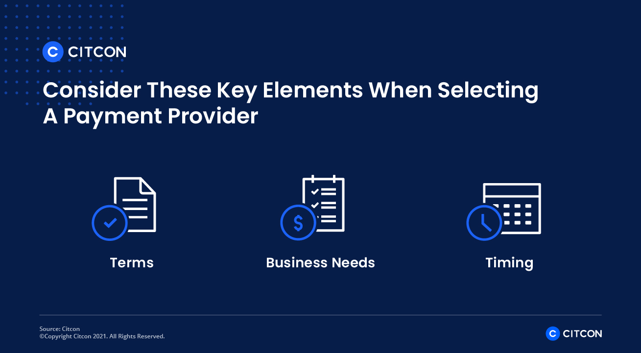 Ready to start accepting international payments? Consider these key elements when selecting a payment provider