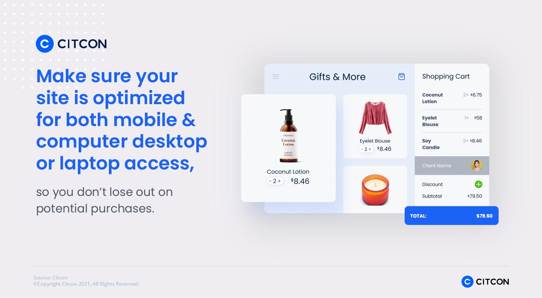 Citcon: improve payment acceptance - optimize mobile and desktop